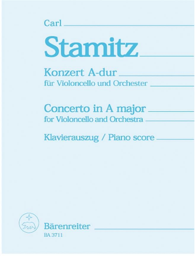 Carl Stamitz - Concerto in A major - Cello - Partition - di-arezzo.co.uk