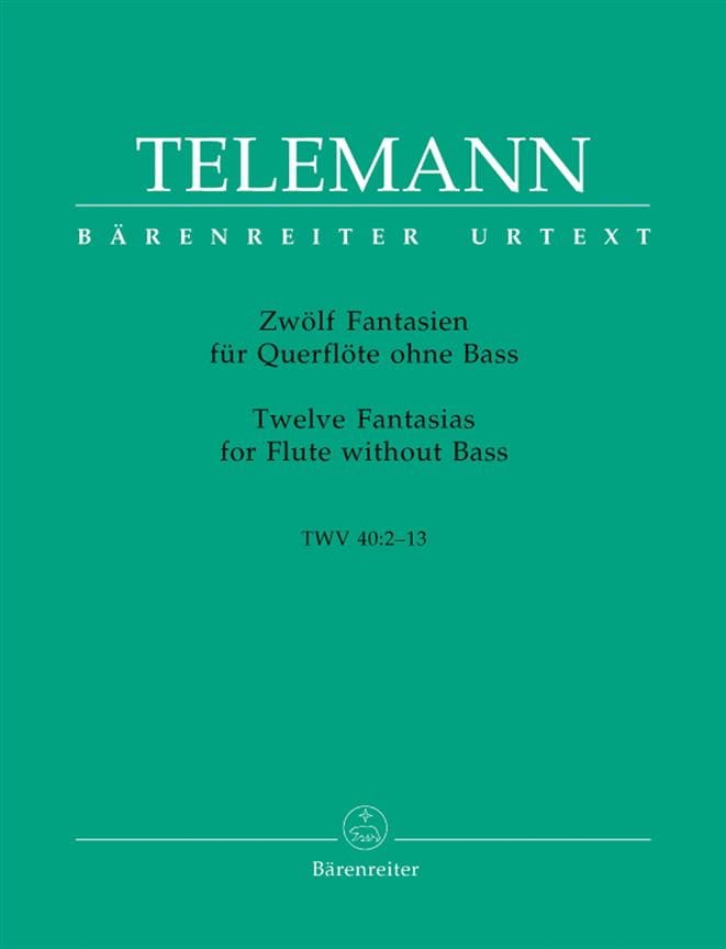 TELEMANN - 12 Fantasies for Flute Alone - Partition - di-arezzo.co.uk