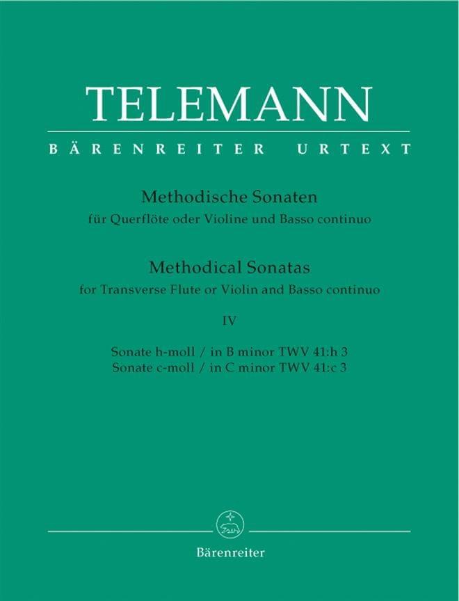 12 Methodische Sonaten - Bd. 4 - Flöte Violine und Bc - laflutedepan.com