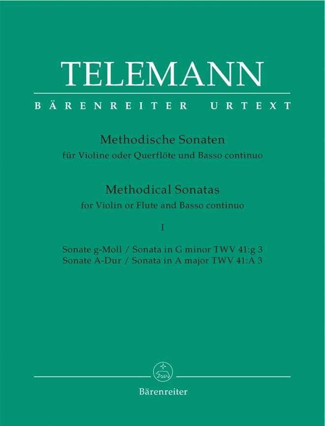 TELEMANN - 12 Methodical Sonatas Volume 1 - Partition - di-arezzo.co.uk