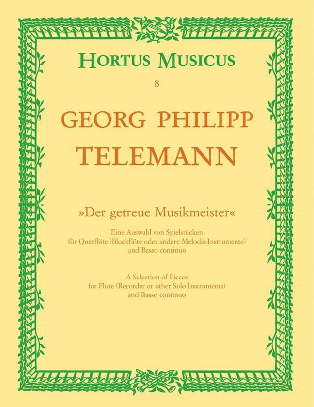 Der getreue Musikmeister - Flute et Bc - TELEMANN - laflutedepan.com