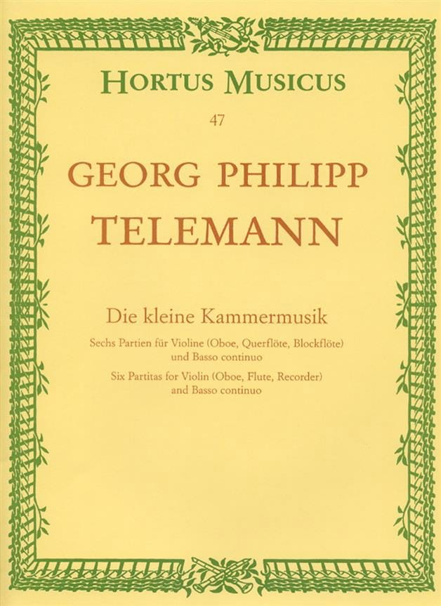 TELEMANN - Die kleine Kammermusik - Partition - di-arezzo.co.uk