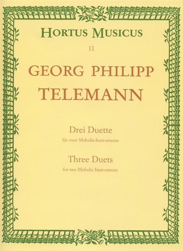 3 Duette für 2 Melodieinstrumente aus Der getreue Musikmeister - laflutedepan.com