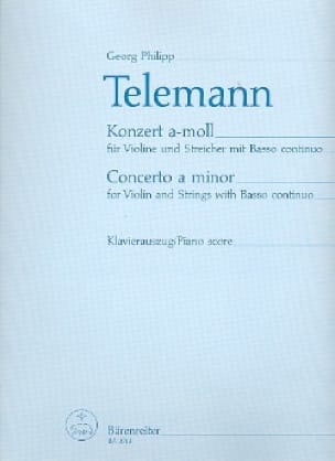 TELEMANN - Violin Concerto a minor - Partition - di-arezzo.co.uk