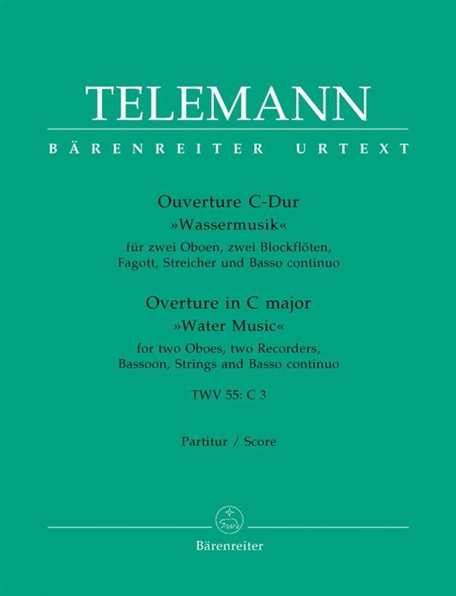 Ouvertüre C-Dur Wassermusik - Partitur - TELEMANN - laflutedepan.com