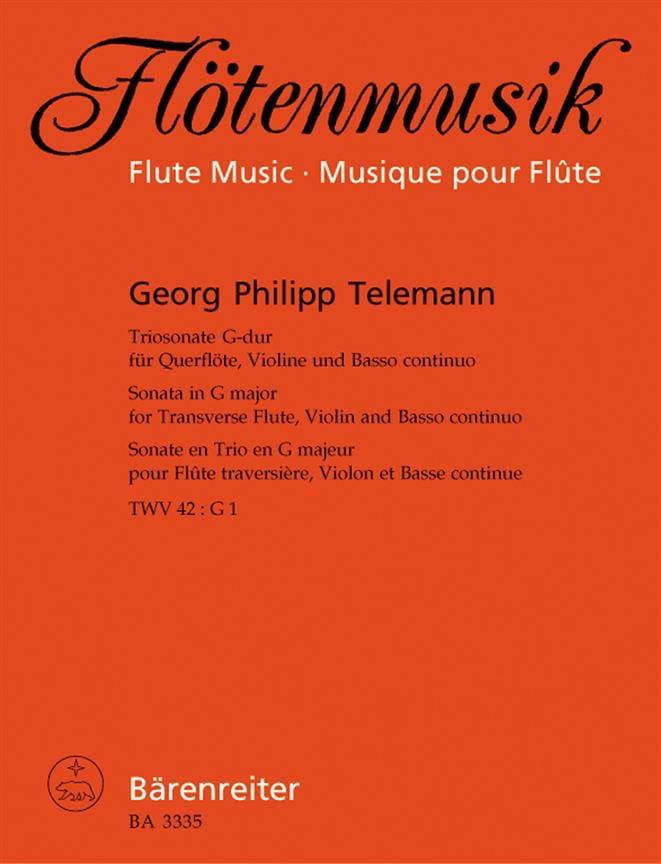 TELEMANN - G-Dur triosonate - Flöte, Violine u. Bc - Partition - di-arezzo.com