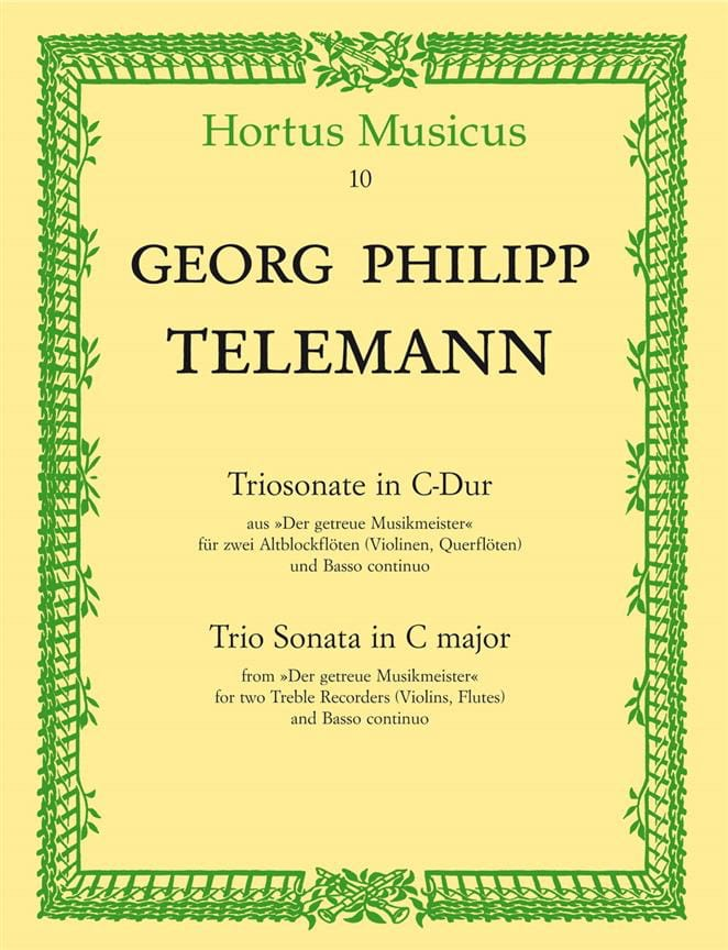 Triosonate C-Dur - 2 Altblockflöten u. BC - laflutedepan.com