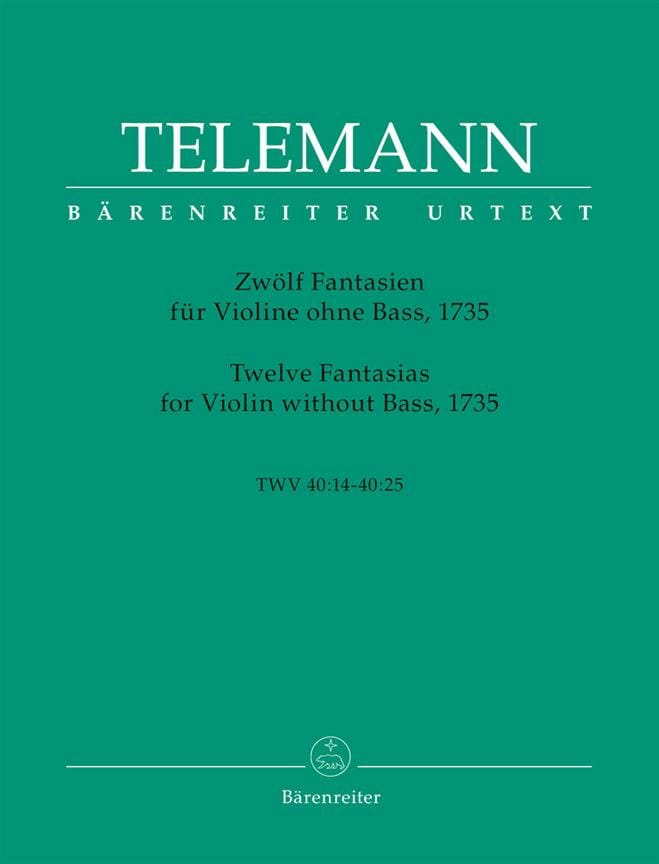 TELEMANN - 12 Fantasies for Violin Only - Partition - di-arezzo.co.uk