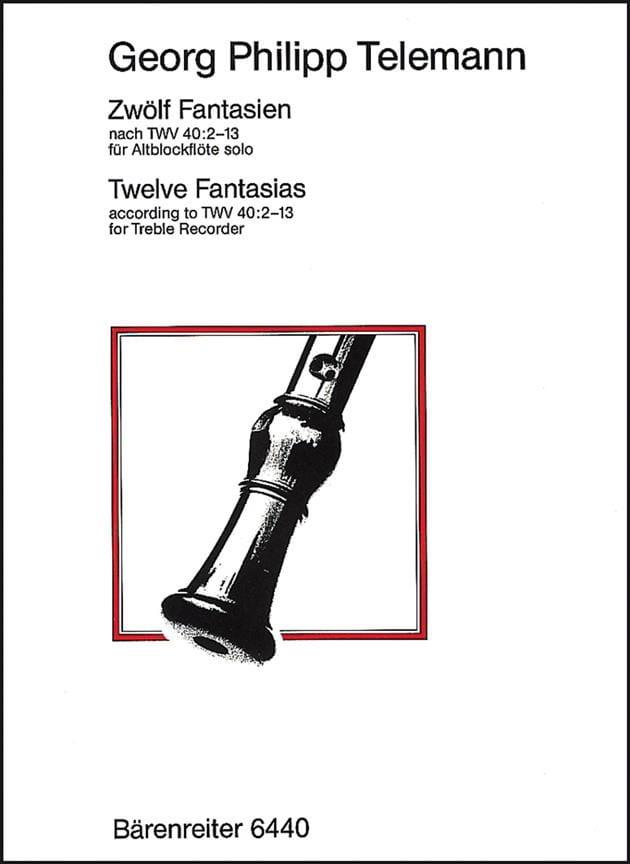 TELEMANN - 12 Fantasy nach TWV 40: 2-13 - Altblockflöte solo - Partition - di-arezzo.com
