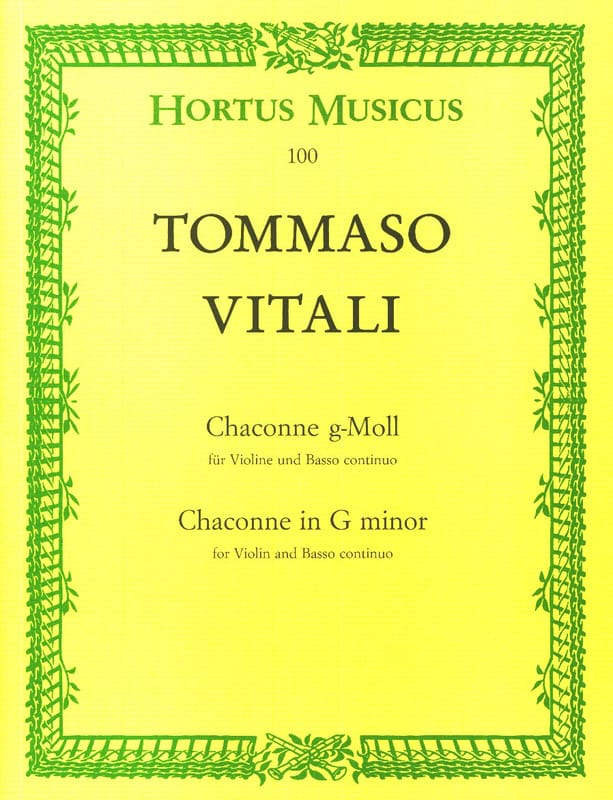 Chaconne sol mineur - Tommaso Antonio Vitali - laflutedepan.com