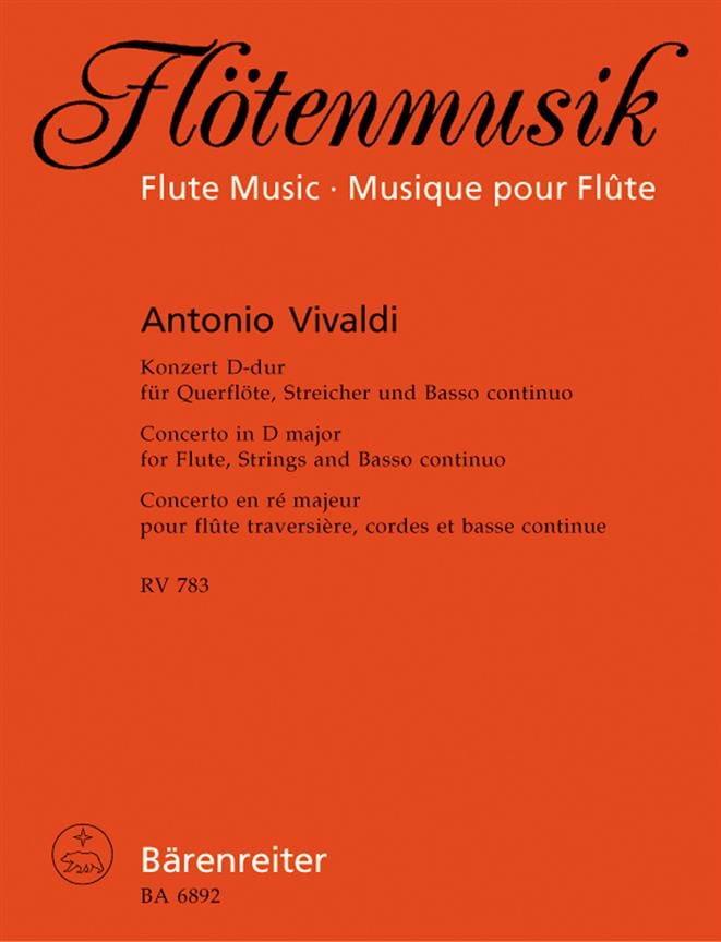 Konzert D-Dur RV 783 - Flöte Klavier - VIVALDI - laflutedepan.com
