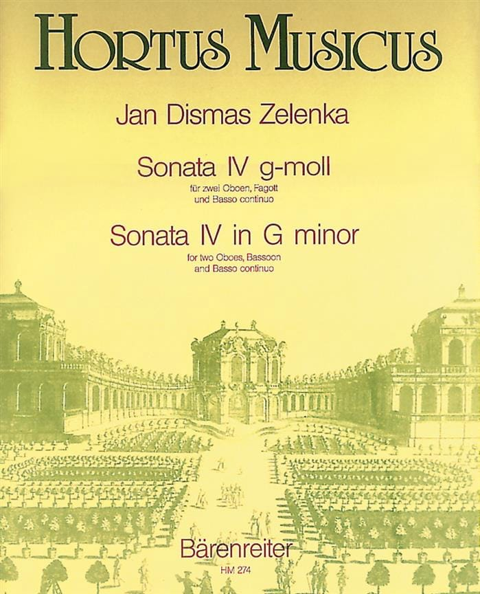 Jan Dismas Zelenka - Sonata Nr. 4 g-moll - Oboen Fagott BC - Partition - di-arezzo.es