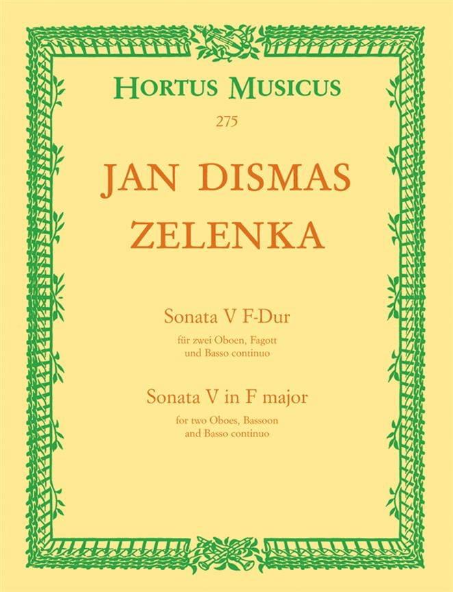 Jan Dismas Zelenka - Sonate Nr. 5 F-Dur - Oboen Fagott, BC - Partition - di-arezzo.es