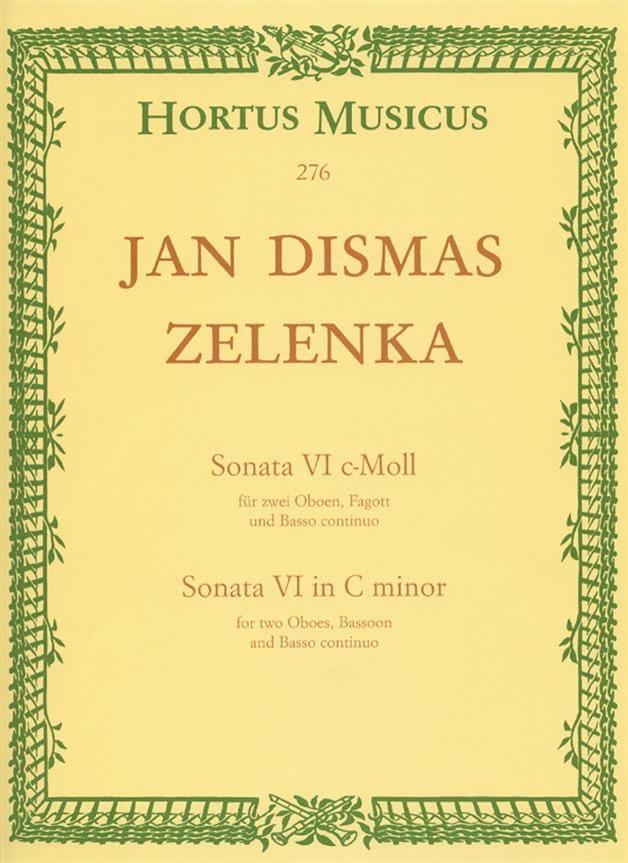 Jan Dismas Zelenka - Sonata Nr. 6 en C Min. - Partition - di-arezzo.es