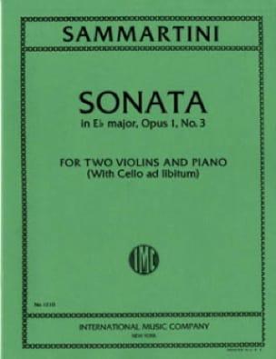 Sonata E-flat major op. 1 n° 3 -2 violins piano - laflutedepan.com