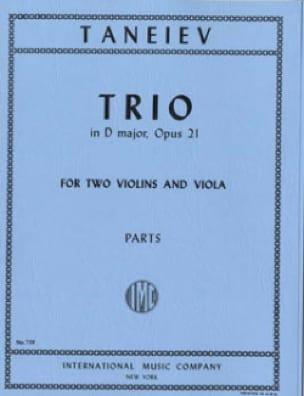 Trio D major op. 21 - Serge Taneiev - Partition - laflutedepan.com