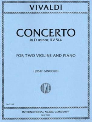 VIVALDI - Concerto in D minor RV 514 - 2 Violins piano - Partition - di-arezzo.com