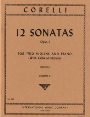 12 Sonatas op. 1 - Volume 2 : n° 4-6 -2 Violins piano - laflutedepan.com