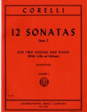 12 Sonatas op. 2 - Volume 1 : n° 1-4 -2 Violins piano - laflutedepan.com