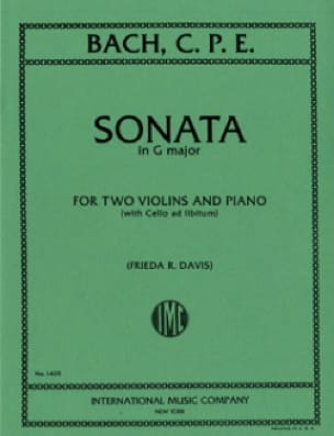 Sonata G-Dur -2 Violins piano - laflutedepan.com
