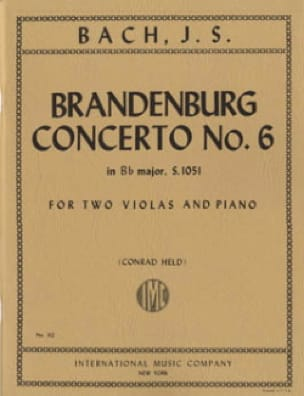 BACH - Brandenburg Concerto No. 6 BWV 1051 - 2 Violas piano - Partition - di-arezzo.co.uk