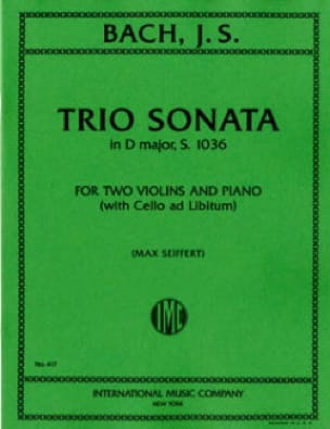 BACH - Sonata Trio in D minor BWV 1036 - Parts - Partition - di-arezzo.com