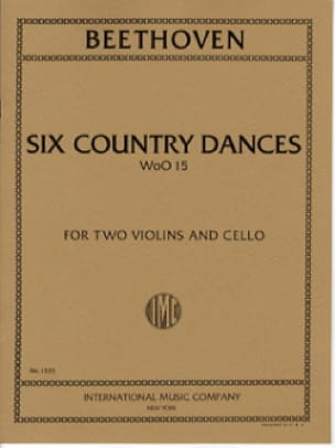 BEETHOVEN - 6 Country Dances - 2 Violins cello - Score Parts - Partition - di-arezzo.co.uk