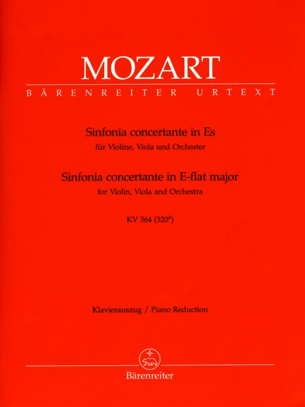 MOZART - Sinfonia concertante Es-Dur KV 364 - Partition - di-arezzo.co.uk