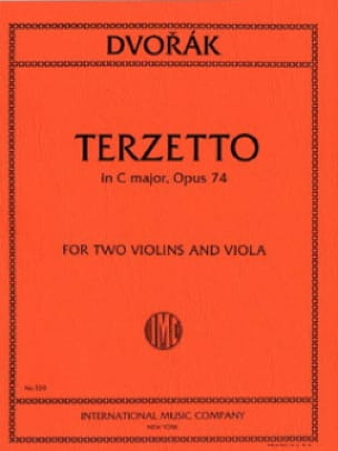 DVORAK - Terzetto C major op. 74 - 2 Violins viola - Parts - Partition - di-arezzo.com