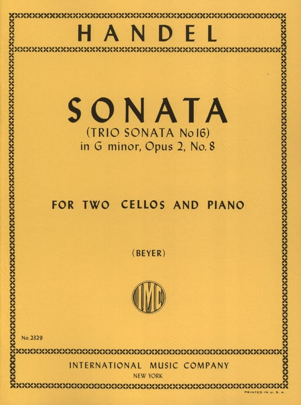 HAENDEL - Sonata G minor op. 2/8 - Partition - di-arezzo.com