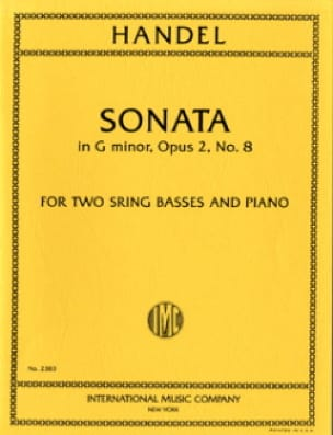 Sonata G minor op. 2 n° 8 - 2 String basses piano - laflutedepan.com