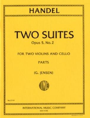 HAENDEL - 2 Suites - op. 5 n ° 2 - Partition - di-arezzo.com