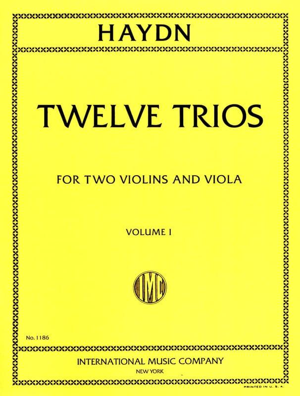 HAYDN - 12 Trios - Volume 1 - 2 Violins Viola - Partition - di-arezzo.co.uk