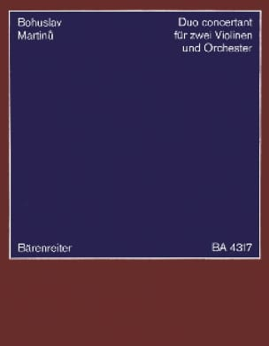 Duo concertant -2 Violinen Klavier - MARTINU - laflutedepan.com