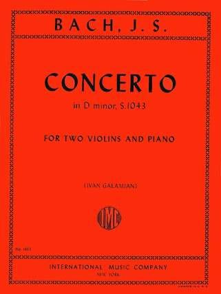 BACH - Concerto D minor BWV 1043 - 2 Violins piano - Partition - di-arezzo.com