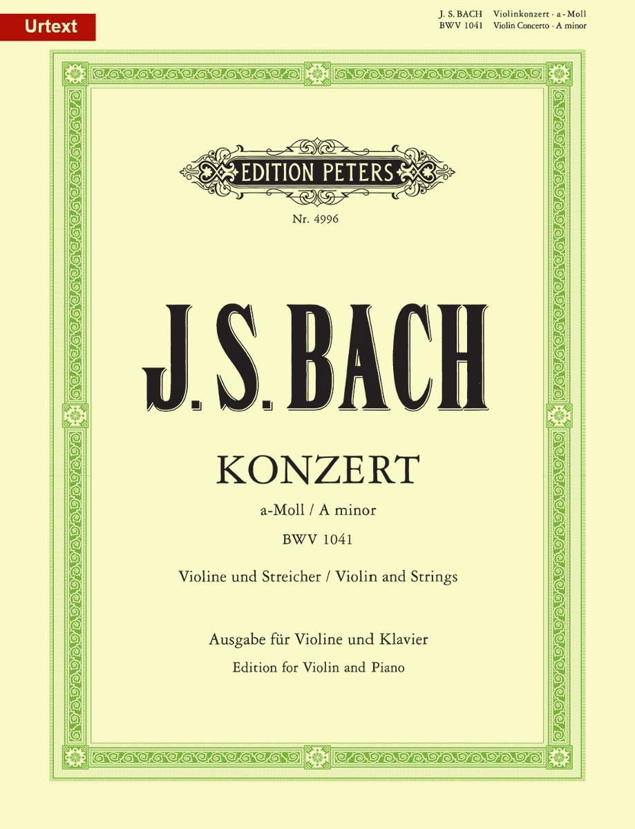 BACH - Konzert a-moll BWV 1041 - Violin - Partition - di-arezzo.co.uk