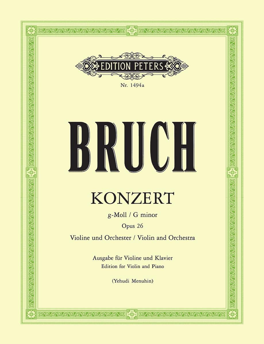 Max Bruch - Concerto No. 1 Op. 26 Sol Minor - Partition - di-arezzo.es