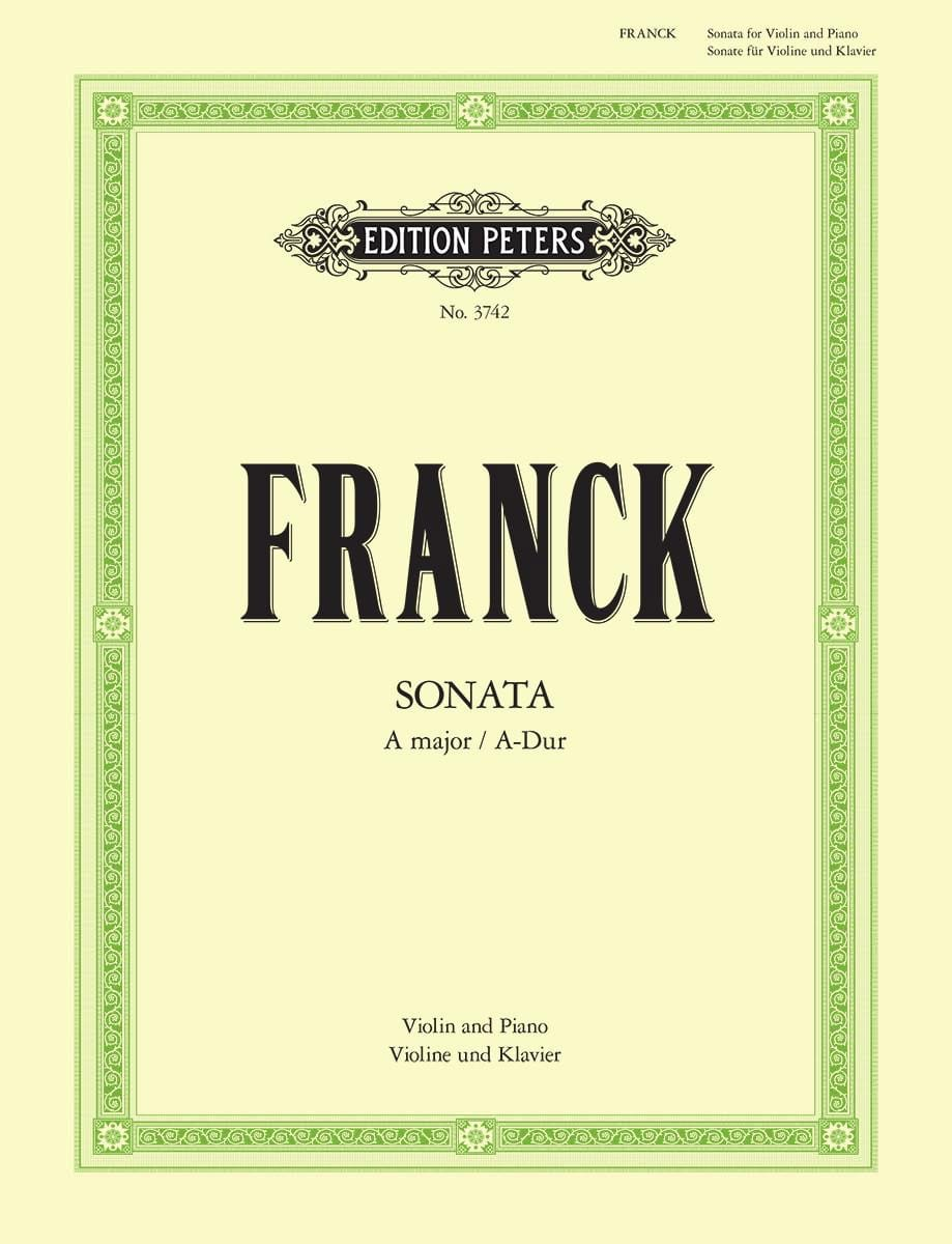 César Franck - Sonata A-Dur - Violine - Partition - di-arezzo.co.uk