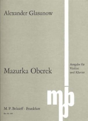 Alexandre Glazounov - Mazurka Oberek - Partition - di-arezzo.de