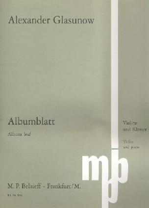 Alexandre Glazounov - Albumblatt - Partition - di-arezzo.de
