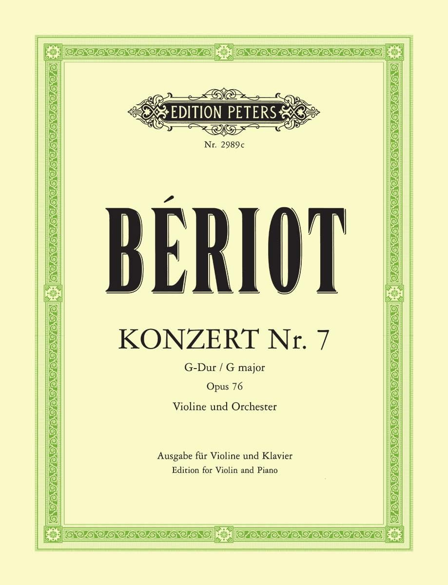 BÉRIOT - Konzert No. 7 G-Dur op. 76 - Partition - di-arezzo.co.uk