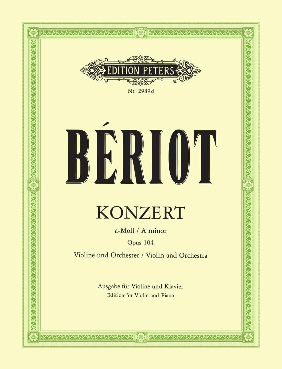 BÉRIOT - Concerto in A minor, op. 104 n ° 9 - Partition - di-arezzo.co.uk