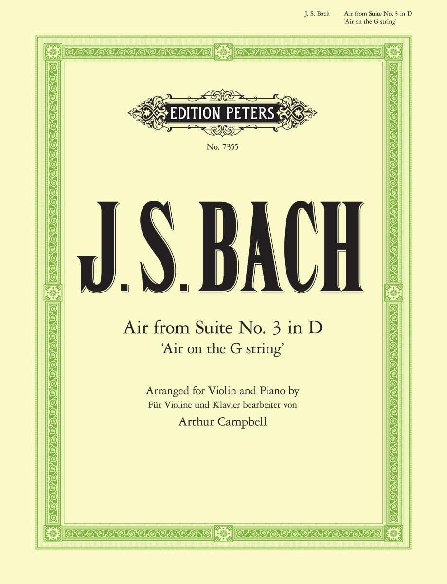 BACH - Air from Suite # 3 in D - Partition - di-arezzo.co.uk