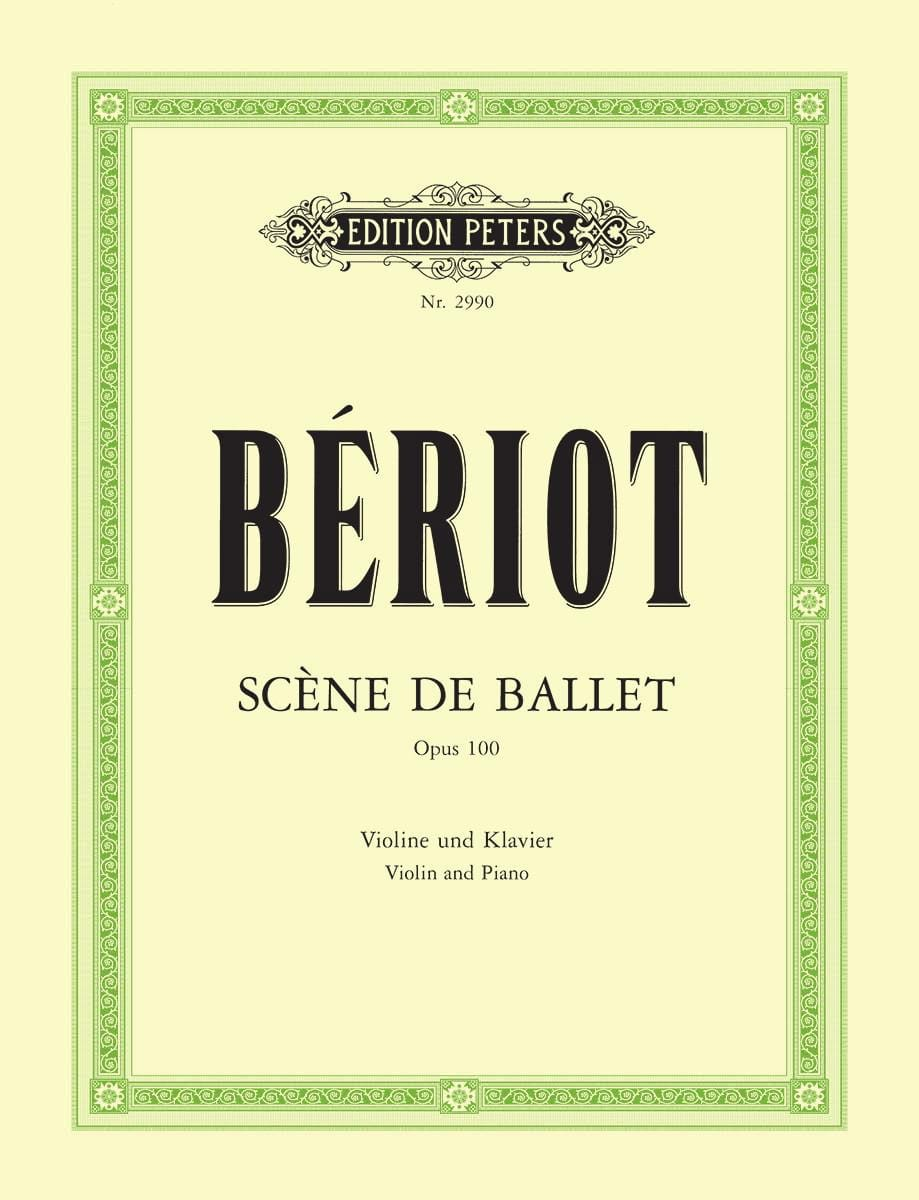 BÉRIOT - Ballet Stage op. 100 - Partition - di-arezzo.co.uk
