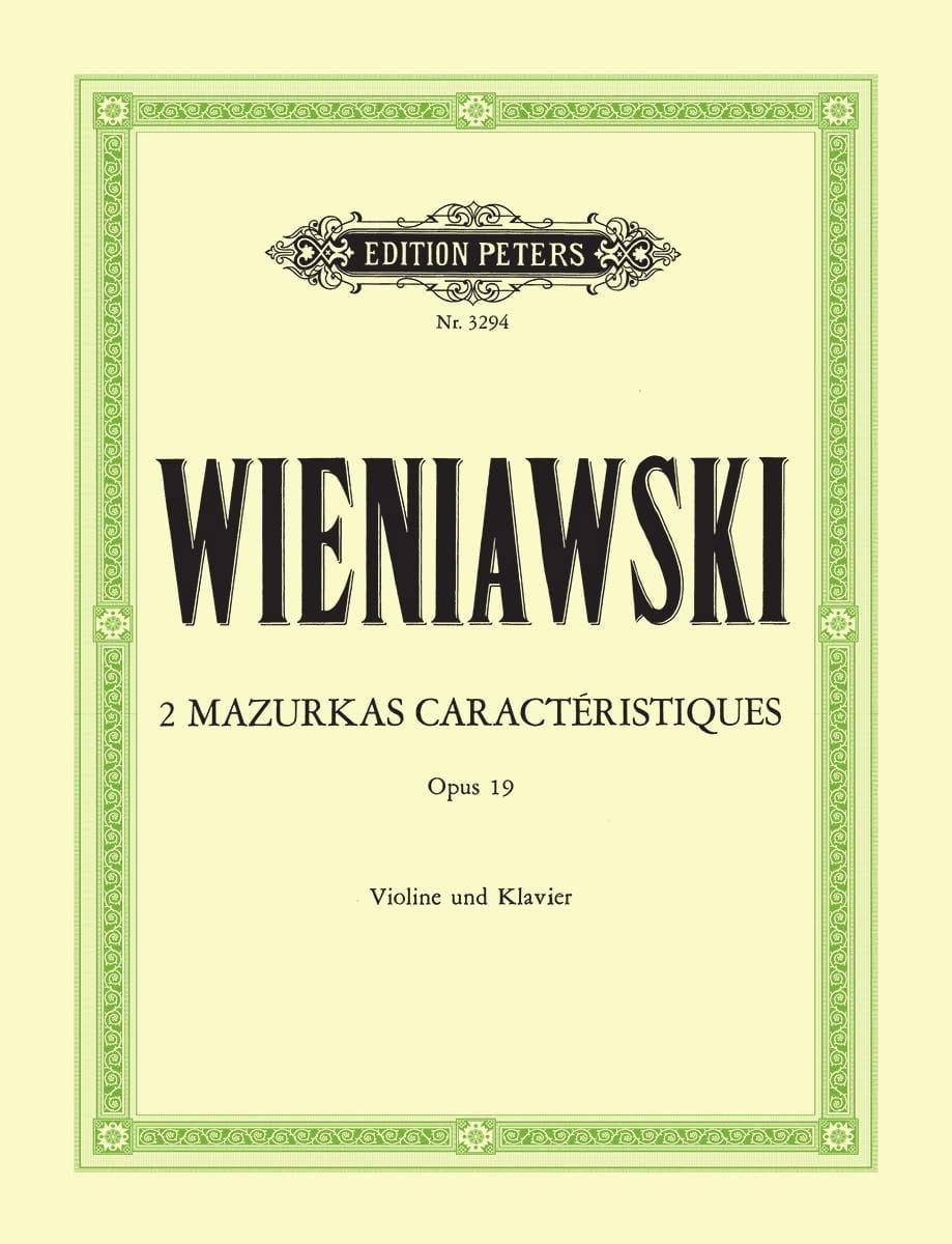 WIENIAWSKI - 2 Mazurkas features op. 19 - Partition - di-arezzo.com