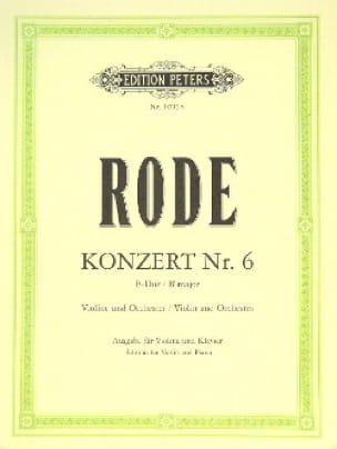 Konzert n° 6 B-Dur - Pierre Rode - Partition - laflutedepan.com