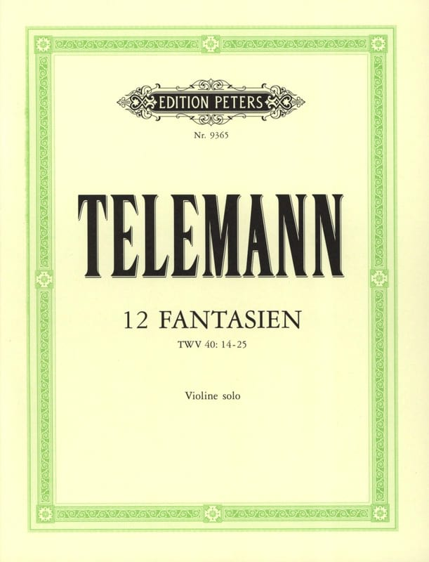 TELEMANN - 12 Fantasies - Partition - di-arezzo.co.uk