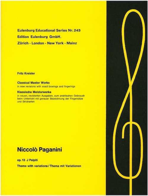 Niccolò Paganini - I Palpiti op. 13 Kreisler - Partition - di-arezzo.co.uk