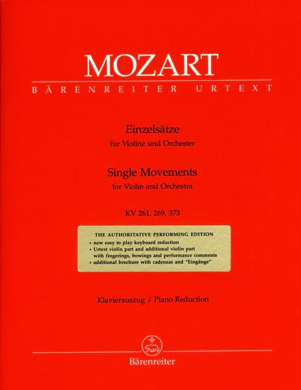 MOZART - Einzelsätze für Violine KV 261, 269, 373 - Partition - di-arezzo.fr