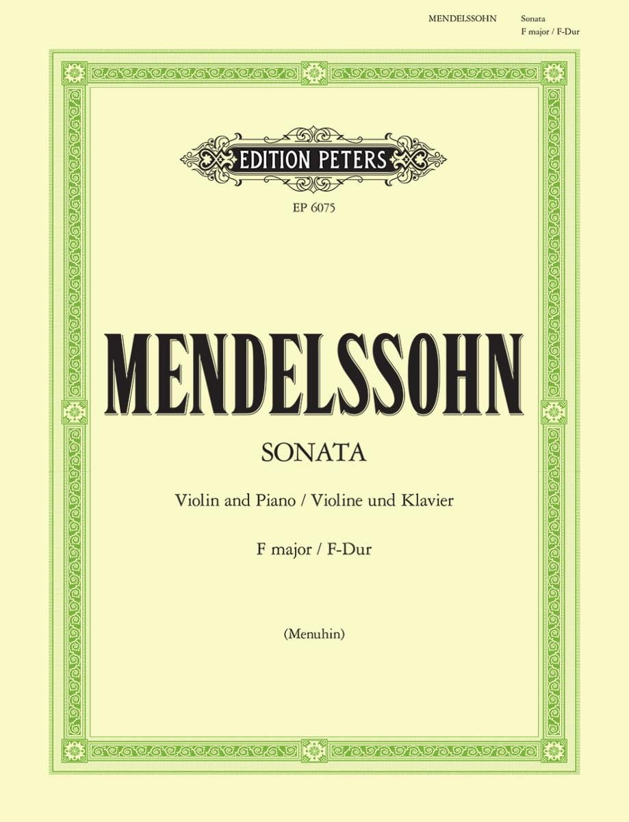 MENDELSSOHN - Sonata in F major - Partition - di-arezzo.com